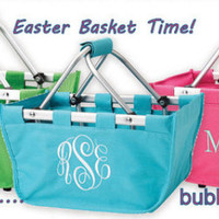Personalized Easter Basket ships same day-will have in time for Easter Girls Boys bucket mini market tote pink aqua green mint - Edit Listing - Etsy