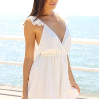 Charlize Frill Dress - White | SABO SKIRT