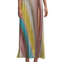 Missoni Mare Pleated Maxi Coverup Skirt with Slit