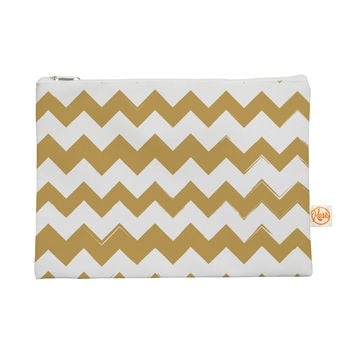 "KESS Original ""Candy Cane Gold"" Chevron Everything Bag"