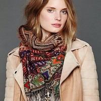 Free People Border Print Artisan Scarf