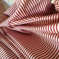 "Fabric Bolt Ticking Red Stripe - 57"" wide x 8.3 yards - 13.14 Sq Yds - David Rothschild Co. - Out of the contents of a closed General Store"