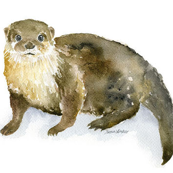 River Otter Watercolor