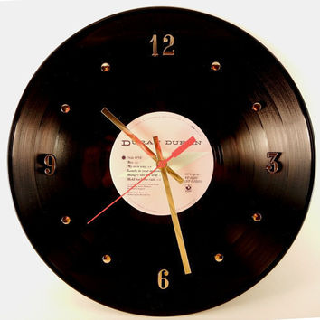 DURAN DURAN Vinyl Record Wall Clock Rio by RecordsAndStuff on Etsy