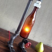 Antique Beer Bottle Lamp