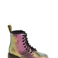 Girl's Dr. Martens 'Delaney' Metallic Leather Boot,