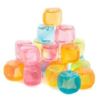 Reusable Plastic Ice Cubes 16 count (Colors May Vary)