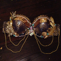 Strapless Gold Queen Mermaid bra - 34D