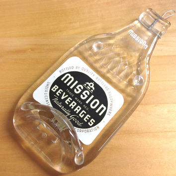Vintage Mission Soda Bottle Spoon Rest or Wall Hanging