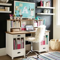 Chatham Large Pedestal Desk + Hutch