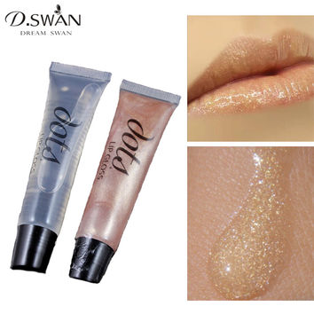 Bare Gold High Shimmer Lip Gloss Nude Metal Color Sparkle Lipgloss 2 Colors Availabe Sheer Plump / Diamond Gold Glitter