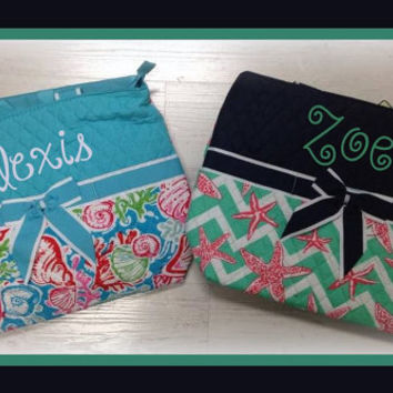 Monogrammed Quilted Personalized Diaper Bag