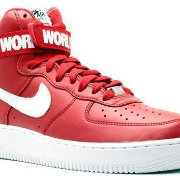 DCCKUN7 Ready Stock Nike Air Force 1 High Supreme Sp Supreme Red Sport Running Shoes