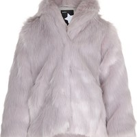 Hester - Gray Dawn - light grey faux fur jacket - molo