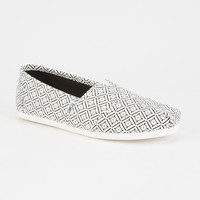 TOMS Vintage Tile Womens Canvas Classic Slip-Ons | Casuals & Flats