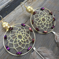 Purple Skull Dangles
