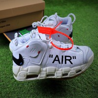 OFF White x Nike Air More Uptempo QS White Black Basketball Shoes Sneaker - Best Online Sale