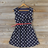 The Sweetheart Dress in Navy