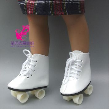 "Snow Boots Shoes for 18"" 45CM American Girls Dolls, fashion skating sport shoes for Alexander doll accessory baby girl gift"