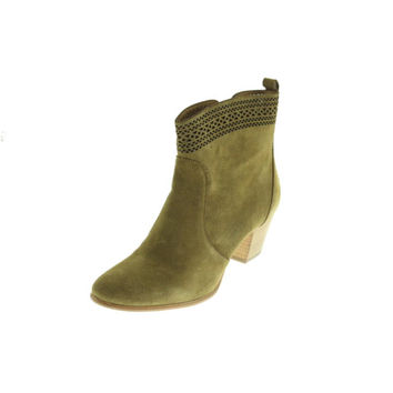 Aerin Womens Tilstone Suede Cut-Out Ankle Boots
