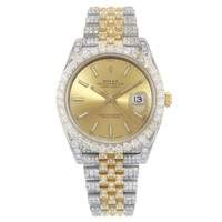 Rolex Datejust 41 126333 15CTTW Custom Diamonds Two Tone Automatic Men's Watch