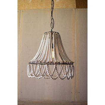 Wood Beads Pendant Light