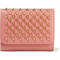 Christian Louboutin - Macaron mini spiked leather wallet