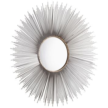 Large Aludra Round Starburst Wall Mirror by Cyan Design