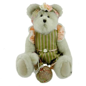 Boyds Bears Plush FLORA ANN PAISLEY Spring Rose Best Dressed 919614 Rfb