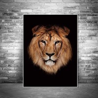 Picture Animal Wall art pictures canvas painting decor poster art prints animals on canvas decoration for living room Wall