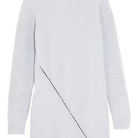 Opening Ceremony - Zip-detailed ribbed wool sweater dress