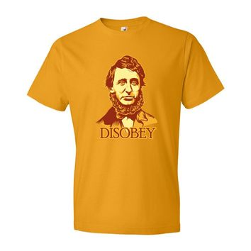 Henry David Thoreau Disobey Men's T-Shirt