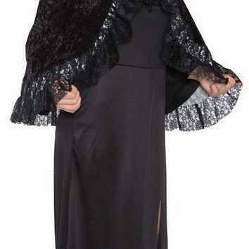 Lace Capelet Grey Adult Costume Accessories