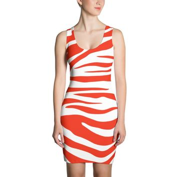 Red Zebra Stripe Sublimation Dress