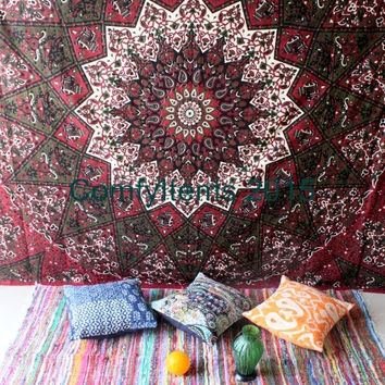 Star Tapestry Wall Hanging Star Wall Art Universe Mandala Tapestry Queen Bohemian Tapestries Printed Fabric Beach Blanket