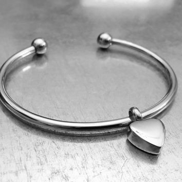 Cremation Heart Bracelet, Urn Bracelet, Ashes Holder Bracelet, Memory Bracelet, Cremation Jewelry