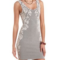 Floral Jacquard Bodycon Dress by Charlotte Russe