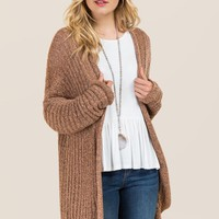 Mei Boucle Split Back Cardigan
