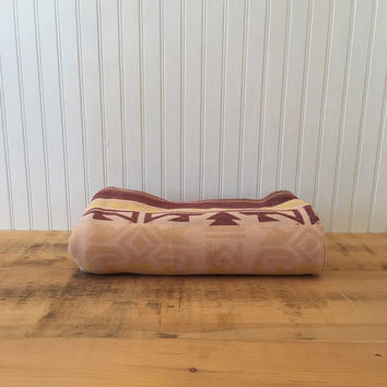 Vintage brown Native American inspired Camp blanket rustic decor throw blanket