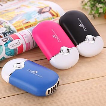 Mini Air Conditioner Travel Handheld USB Rechargeable Cooling Fan for Summer