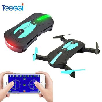 Teeggi JY018 Portable Mini Selfie Drone with Camera WIFI FPV Altitude Hold Headless Foldable RC Quadcopter Drone VS H37 Mini H47