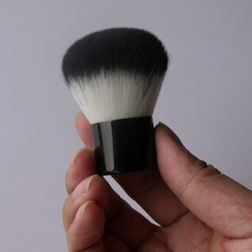 Cosmetic Black Nylon Powder Brush Kabuki Brush