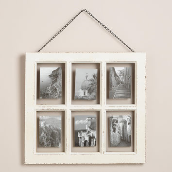 White Vintage 6-Photo Frame - World Market