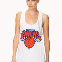 FOREVER 21 New York Knicks Tank White/Orange