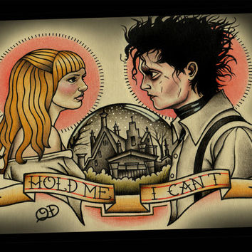 Edward Scissorhands Tattoo Art Print
