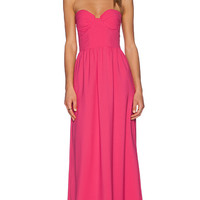 Toby Heart Ginger Contour Bodice Maxi Dress in Pink