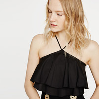 RUFFLE TOP - Tops-SPECIAL PRICES-WOMAN | ZARA United Kingdom