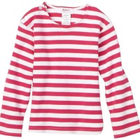 Zutano Primary Stripe Long Sleeve T Shirt, Fuchsia/White, 6 Months ( 0 6 months)
