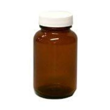 Frontier 4 Oz. Round Amber Spice Jar with Cap and Label 12 count