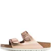 Birkenstock for Women: Arizona Liquid Copper Soft Footbed Narrow Sandals